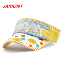 [JAMONT]Summer Baseball Caps Kids Hat Empty Top Sun Hat Children Boys Girls Beach Cap Cotton Letter Kids Visor Casquette