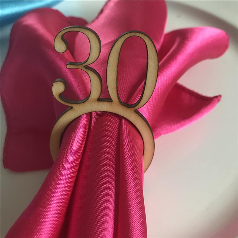 50pcs Personalized Wedding Napkin Rings Custom WoodAcrylic Table Napkin Ring Holder Rustic Wedding Christmas Party Table Decor (11)