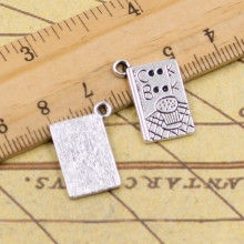 10pcs Charms cook book recipe kitchen 17*11mm Tibetan Silver Plated Pendants Antique Jewelry Making DIY Handmade Craft(China)