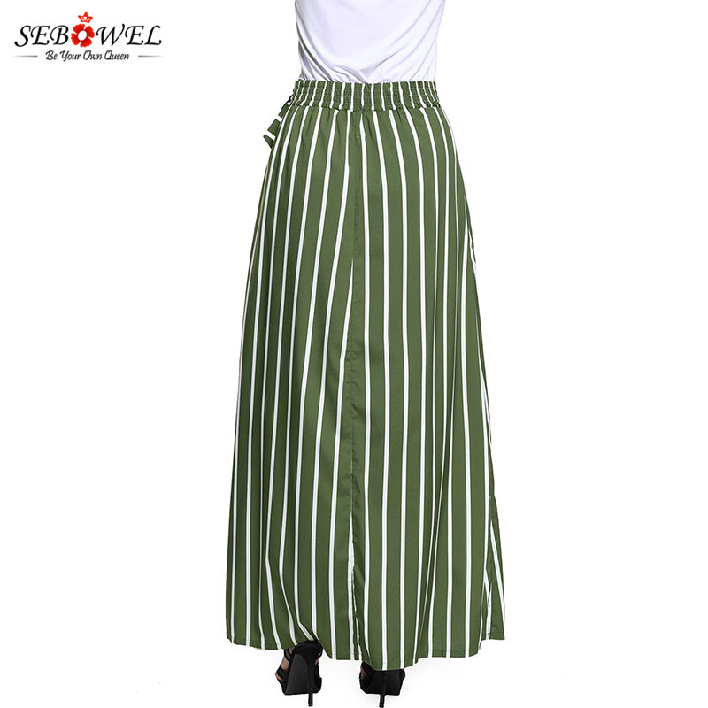 Olive-Green-Striped-Maxi-Skirt-LC65037-9-4