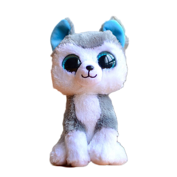 Ty Beanie Boos Original Big Eyes Plush Toy Doll Child Brithday 10 - 15cm Husky TY Baby For Kids Gifts(China)