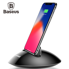 Baseus Charger Dock Station For iPhone X 8 7 6 6s Plus 5s se Desktop USB Sync Data Charging Mobile Phone Holder Docking Station(China)
