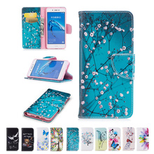 For Huawei Honor 6C Case Colorful Flowers Tree Bear Pattern Wallet Leather Stand Cover For Huawei enjoy 6s Nova Smart Phone Bag