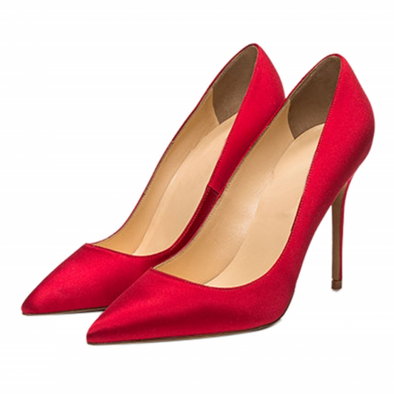 Women Pumps Extreme High Heels Shoes Woman Party Shoes Wedding Dress Formal Pointed Toe Satin Ladies Shoes SR-B0019<br>