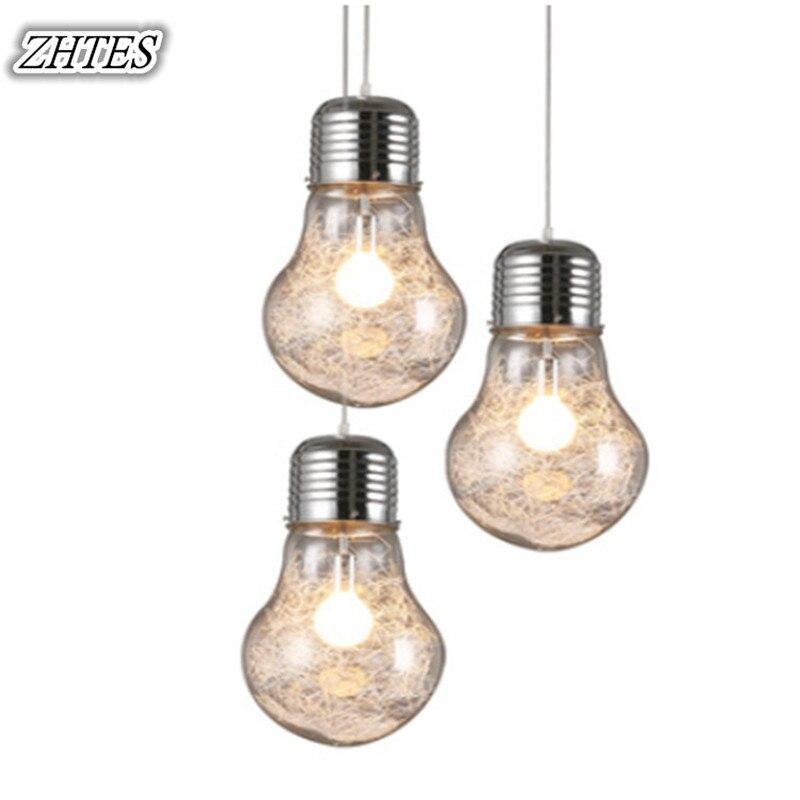 Big Bulb Pendant Light Modern Minimalist Restaurant Bar Glass Pendant Light<br>