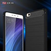 KRY Phone Cases Silicone Soft TPU Business Carbon Phone Cases For Xiaomi Redmi 4A Case Cover For Xiaomi Redmi 4A Case Capa Coque