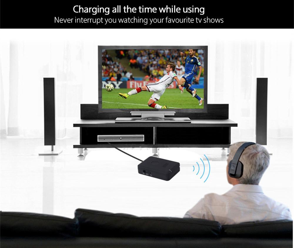 August MR260 aptX Bluetooth Transmitter Receiver