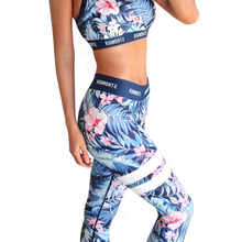 Sexy Two Pieces Tracksuit For Women Print Floral Sporting Suit Soft Sleeveless Workout Women's Set Sportswear Bras And Leggings