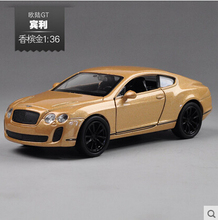 Bentley Continental GT Welly GTA 1:36 Alloy toy car model simulation fast and furious Champagne Gold NEX model