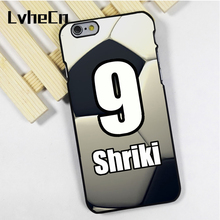 LvheCn phone case cover fit for iPhone 4 4s 5 5s 5c SE 6 6s 7 8 plus X ipod touch 4 5 6 Personalized Number Name Soccer FootBall(China)