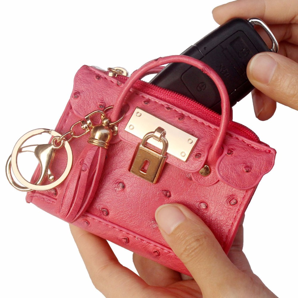 Pink Candy Women Kids Small Coin Card  Wallet Pouch Purse Red Black Colour