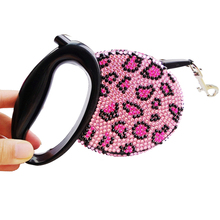 Buy Luxury Rhinestone Bling Retractable Dog Leash Pink Black 3M Small Medium Pet Lead Leashing Walking Cat Animal Product Chihuahua for $16.06 in AliExpress store