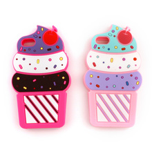 Cute Cartoon Case For iPhone 7 7 Plus 6 6S Plus New Design 3D  Cherry Cupcakes Ice Cream Shaped Soft Silicon Case Cover