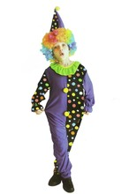 Kids Childrens Dot Clown Cosplay Costume For Boys Girls Carnivals Fancy Dress Costume Party Supplies(China)