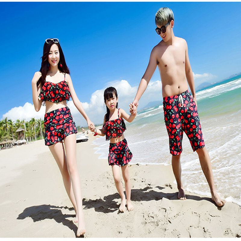 Family swimwear father mother kids swimsuit  bikini set couple swimsuit summer beachwear two pieces bodysuit family swimwear<br><br>Aliexpress