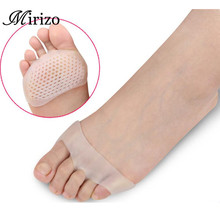 Cellular Breathable Soft Silicone Gel Toe Pads High heel shock absorption anti Slip-resistant metatarsal foot Pad Forefoot Pad(China)