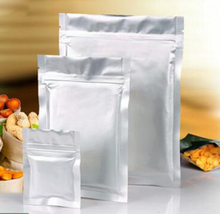 Factory Wholesale Price Ziplock Plastic Bags Aluminum Foil Recloseable Zip Food Stock Pouches Aluminum Foil Bag with Flat Base