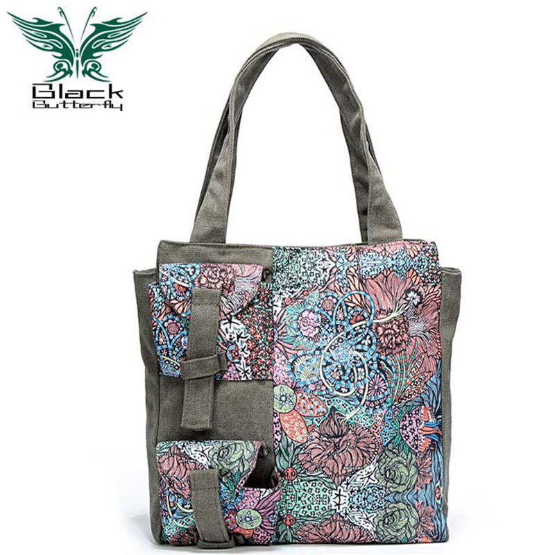 2017 New fashion women messenger bag fashion handbag national print flower shoulder bags vintage canvas satchels Sac a Main<br><br>Aliexpress