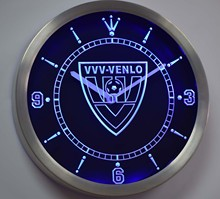 nc1025 VVV-Venlo Eerste Divisie Netherlands Football Neon Sign LED Wall Clock