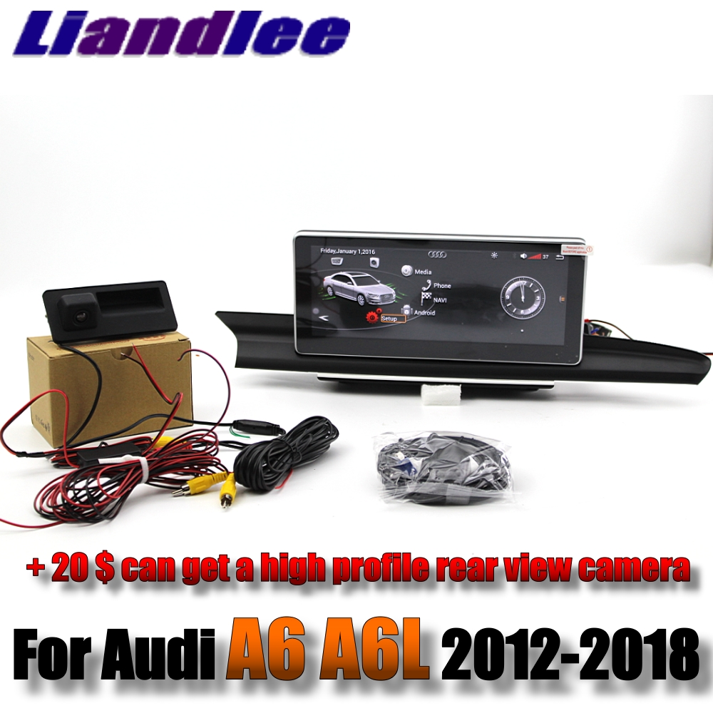 Liandlee Car Multimedia Player NAVI For Audi A6 A6L S6 RS6 C7 4G 2012~2018 Accessories 10.25 inch Radio Stereo GPS Navigation 10