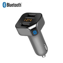 2017 MP3 Player Wireless Bluetooth FM Transmitter Car Dual USB Charger For iPhone Samsung Car Battery Voltage Detector Audio MP3