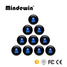 Mindewin 10PCS Restaurant Wireless Waiter Calling Bell 433MHz Transmitter Service Waiter Call Button M-K-1 Table Call Bell(China)