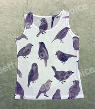Track Ship+Fresh Hot Tops Top Vest Tank Tanks Cartoon Purple Wallpaper Watercolor Painting Raven Bird 1103(Hong Kong)