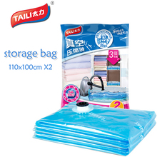 2 PCS 110*100cm large storage bag Wardrobe Closet Organizer Vacuum Bag For Clothes Garment Luggage Maleta Portatrajes