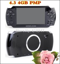 FREE Built-in 5000 games, 4GB 4.3 Inch PMP Handheld Game Player MP3 MP4 MP5 Player Video FM Camera Portable Game Console