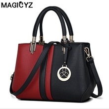 Designers Women Bag 2016 Fashion Patchwork women Messenger bags casual tote leather handbags Famou Brands female shoulder bag