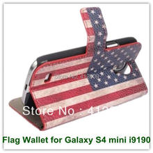 10PCS Fashion Retro Australia USA UK National Country's Flag Leather Wallet Case for Samsung Galaxy S4 mini i9190 Free Shipping