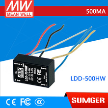 1MEAN WELL original LDD-500HW 2 ~ 52VDC 500mA meanwell LDD-500 DC-DC LED driver wire style