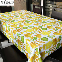 XYZLS colorful fruit PVC tablecloth non wash waterproof oilproof table cloth square and round coffee tablecloths plastic pad