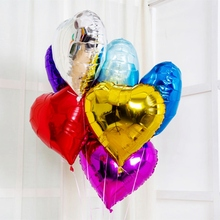 18 inch Event Balloons 10inch Heart Shaped Foil Balloon Large love wedding Happy Bithday Party Decoration Globos Air Ballons