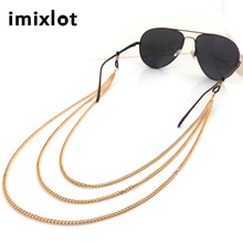 IMIXLOT New Arrival Rose Gold Copper Eyeglass Chain Reading Glasses Eyewear Spectacles Holder Cord Head Chain