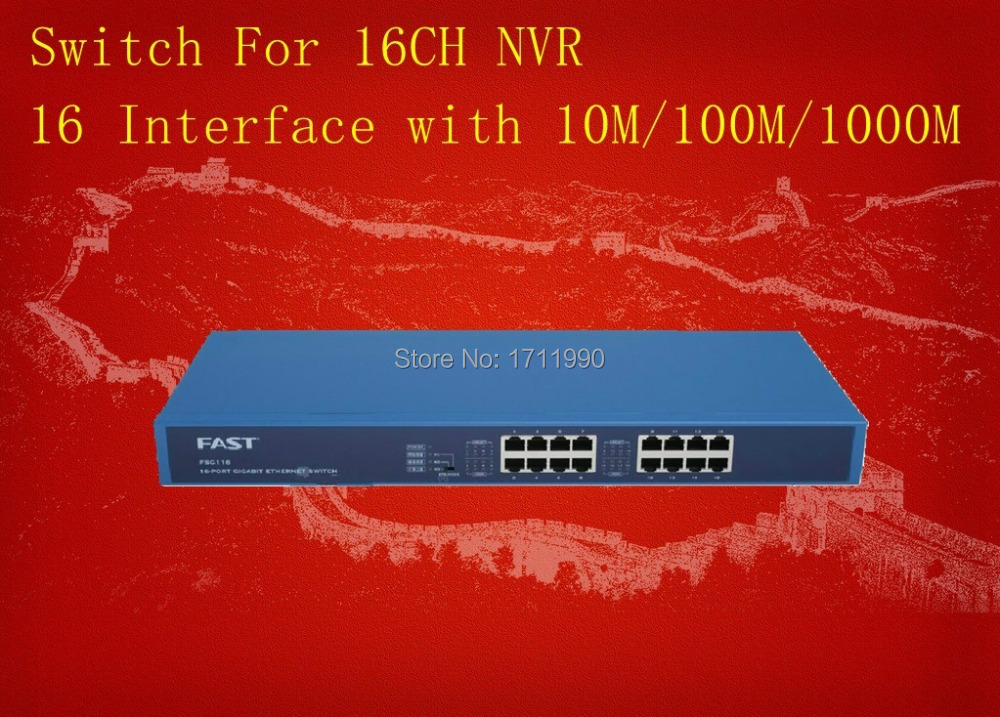 FAST 16  Interfaces All 1000Mbps Switch For 16CH NVR and CCTV IP Cameras Safe,Stable and Cheap<br><br>Aliexpress