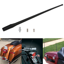 13.7'' Black Resilient AM FM XM Radio Antenna Masts for Harley Davidson 1989-2017 Motorcycle Signal Aerial Accessories #MC001-1