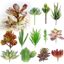 Micro Multi-Color Artificial Flowers Ornaments Lithops Artificial Succulents Plants Wedding Home Garden Decoration