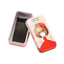 New 15PCS/Lot Cute Box Packed Crude Black Metal Barrettes For Women Hair Holder Basic Hair Clips Lady Hairpins Hair Accessories(China)