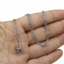 10pcs/lot 45cm Stainless Steel Necklace Chain 1mm thickness chain