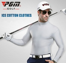 Mens Golf T Shirt  ICE Anti-uv Sunscreen Summer Long-sleeve T shirt Polode Golf Polyester Viscose Underwear Outdoor Clothing
