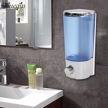 Xueqin Free Shipping 400ML Wall Mounted Kitchen Bathroom Liquid Soap Dispenser ABS Shampoo Lotion Dispensers Bottle Container