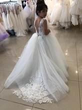 Popular White Flower Girl Dresses With Train Buy Cheap White Flower