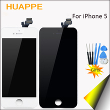 HUAPPE No Dead Pixel AAAA High Quality Display For iPhone 5 LCD Touch Screen Replacement With Digitizer 4.0 inches White Black(China)