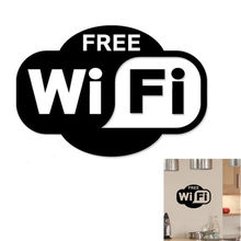 Hot Sale Free WIFI Wall Stickers Decor Cafe Shop Public Cool Wall Art Stickers Vinyl Decals Home Room Decor Muurstickers  SA141