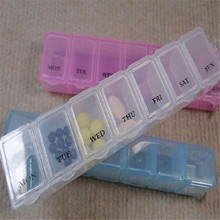 Hot Useful 7 Day Weekly Pill Medicine Box Holder Storage Container Case Health Pill Cases Portable Pill Cases Random Color(China)
