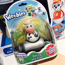 Weebledown Farm Wobbly Figure & Vehicle Daisy The Cow On Milk Churn by Character Options Tumbler Animal series toys Boy Gift