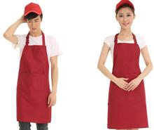 Apron custom logo mark name printing adult jacket restaurant kitchen cotton apron advertising overalls
