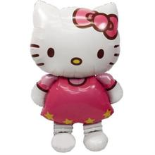 Inflatable Hello Kitty Air Hydrogen Balloon 80*48cm Cartoon Cat Foil Balloon Children Toys Wedding Birthday Party Decoration