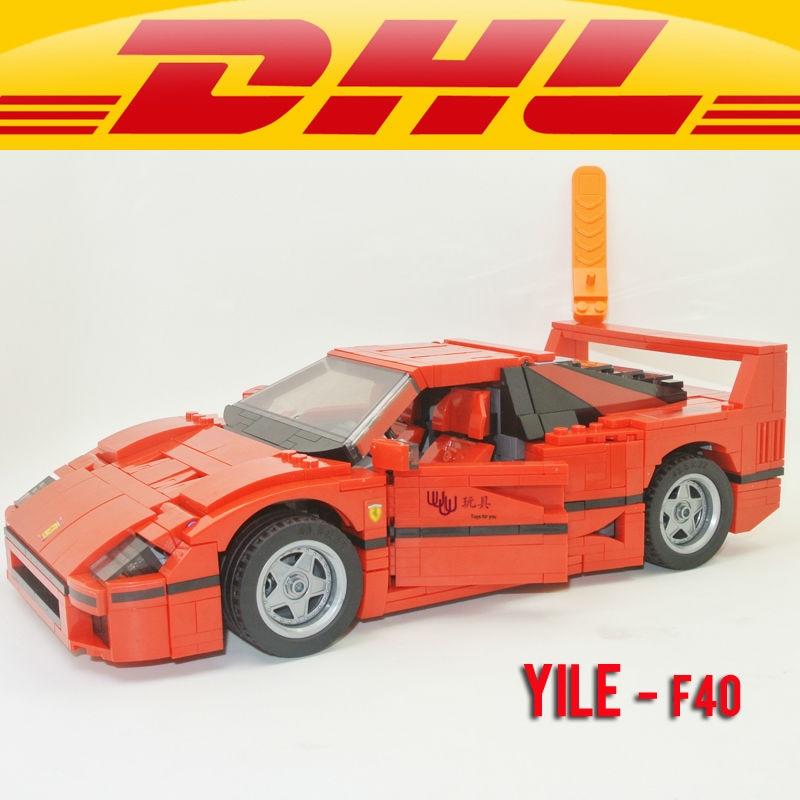 Yile 001 F40 Sports Car 1158pcs  Building Blocks technic bricks 10248 action figure creator car toys for children<br>